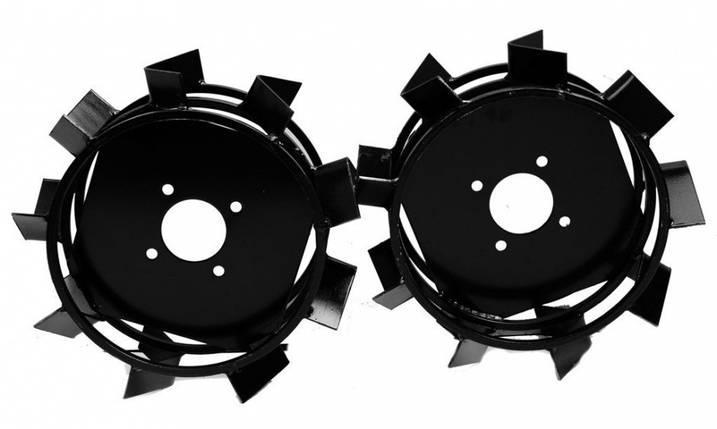 Грунтозацепы к мотоблоку (железные колёса) Ø 450 мм на профтрубе АМ, фото 2
