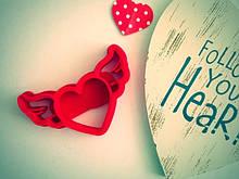 Вырубка сердце, вырубка день влюбленных, сердце с крыльями каттер