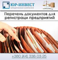 Перечень документов для регистрации ООО, ЧП, ЧАО, ПАО, СПД, ФОП, ФЛП