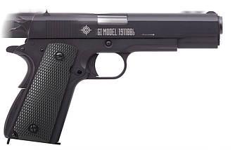 Пистолет пневматический Crosman мод.1911BB / Пистолет с жатым газом СО2 черного цвета