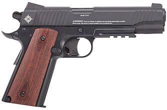Пистолет пневматический  CROSMAN C1911B / Пистолет с жатым СО2 черного цвета