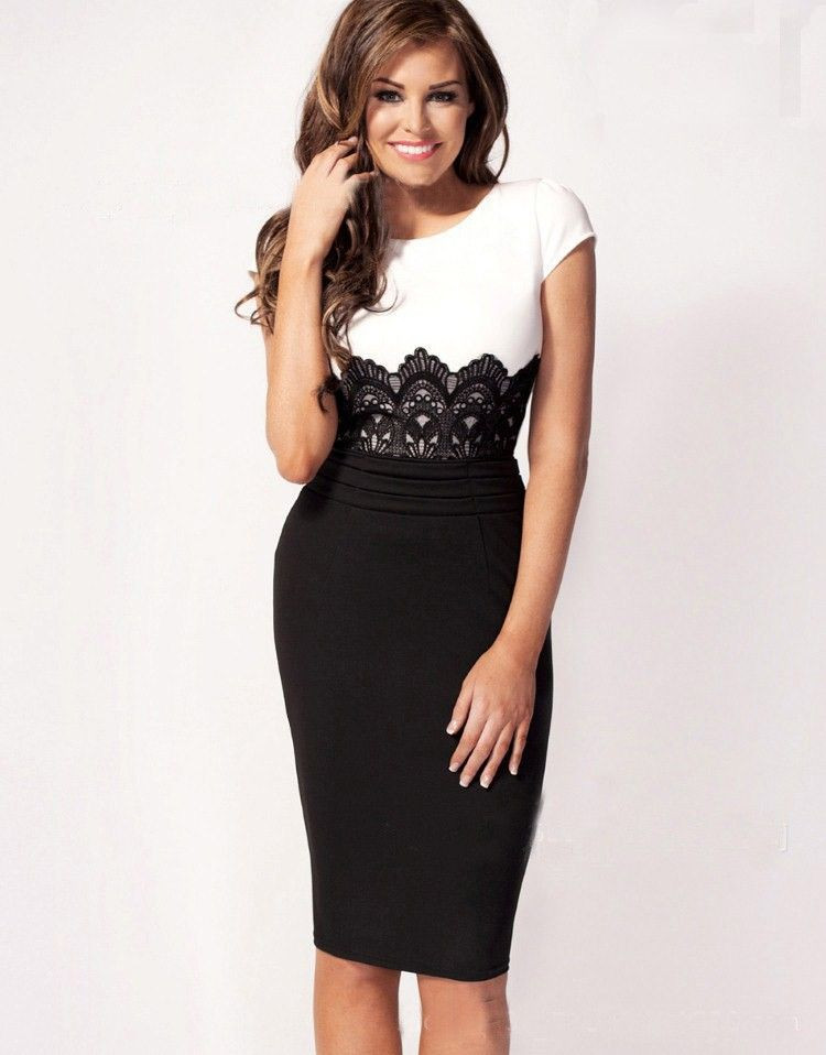 db8b234515459fb Черно-белое платье карандаш, цена 410 грн., купить в Луцке — Prom.ua ...
