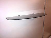 Полка стеклянная фигурная 6 мм крашенная 60 х 25 см чёрная