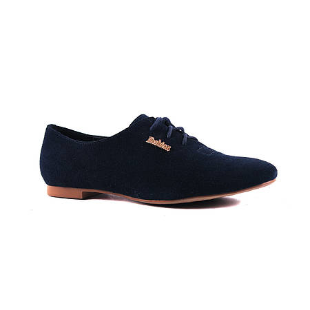 Стильные туфли насыщенного синего цвета