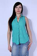 Блуза женская без рукавов бирюзовая Zara 2540