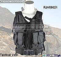 Разгрузка Fashion Outdoor Combat Vest Black черного цвета