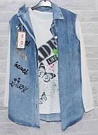 """Кардиган женский джинсовый безрукавка+ кофта, р-ры S-2XL """"GOLDEN IMAGE"""" купить недорого от прямого поставщика"""