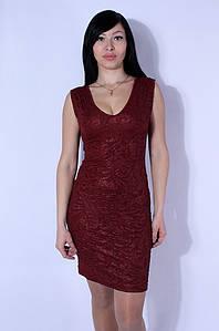 Платье женское диско бордовое WHY BEE 2558