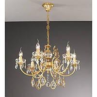 Люстра подвесная LA LAMPADA L 1065/6.27 золото/хрусталь