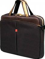 """Качественная мужская сумка для ноутбука 10"""" Continent CC-010 Black Caviar черный"""