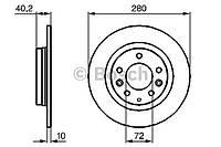 Тормозной диск задний на Mazda 323 BJ 1.6 и 2.0 (Bosch)