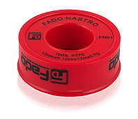 Тефлоновая (Фум) лента профи 19мм х 0.25мм,  15м х 0.3г уплотнительная FADO