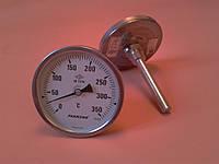 "Термометр биметаллический PAKKENS Ø100мм от 0 до 350 градусов, трубка-капилляр 10 см с резьбой 1/2""     Турция"