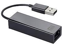 Внешняя сетевая карта Ethernet Xiaomi USB to RJ45 Network LAN Adapter оригинал Черный