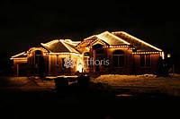 Украшение фасада на новый год, светодиодная подсветка фасада, иллюминация дома к новому году