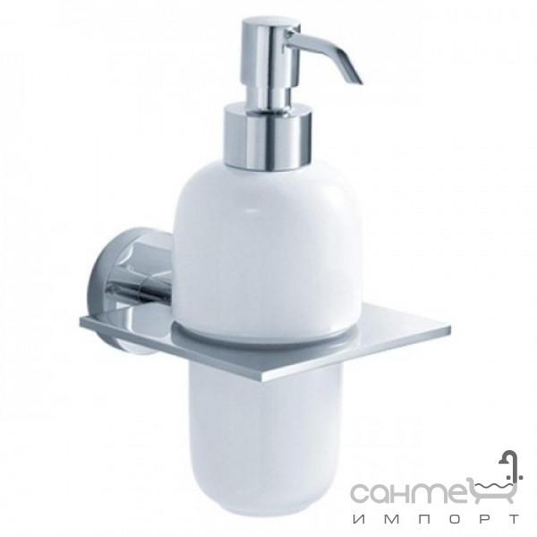 Аксессуары для ванной комнаты Kraus Дозатор для мыла с настенным держателем Kraus Imperium KEA-12261 BN сатин
