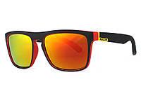 Защитные спортивные очки от солнца Kdeam  Черный, красный, оранжевый