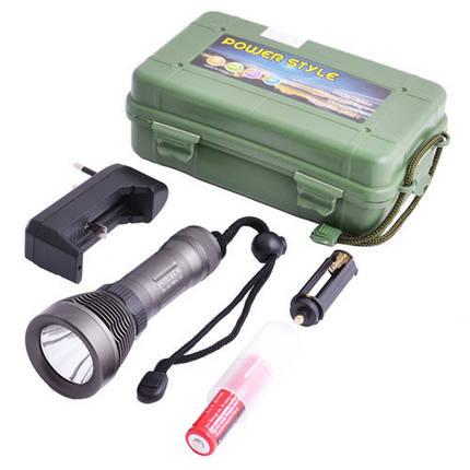 Фонарик водонепроницаемый Police DL09, для дайверов, питание 1*18650 / 3*ААА, зарядное устройство, 145*50 мм, фото 2