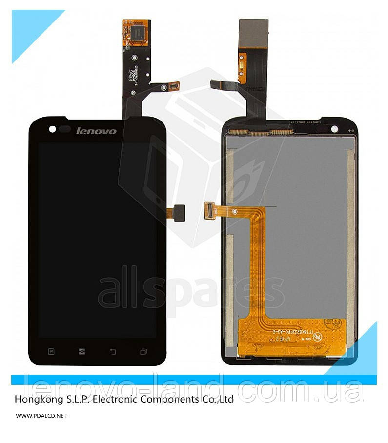 Сенсорный экран + дисплей+рамка, модуль LCD для Lenovo A660