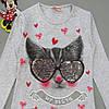 """Лонгслив """"Котик"""" для девочки (двусторонние пайетки). Маломерит., фото 3"""