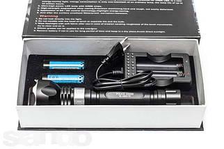 Подводный сверхяркий фонарь BL-2803 T6 Police 2 аккумулятора, фото 2