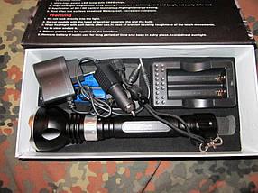 Подводный сверхяркий фонарь BL-2803 T6 Police 2 аккумулятора, фото 3