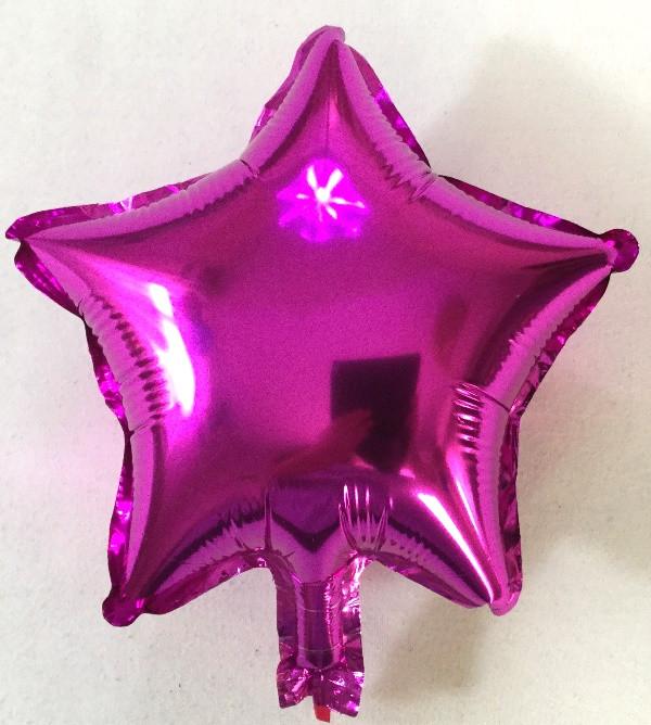 Шар в форме звезды Малиновый ; Размер: 10″