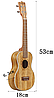 "Гавайська гітара укулеле 21"", фото 4"
