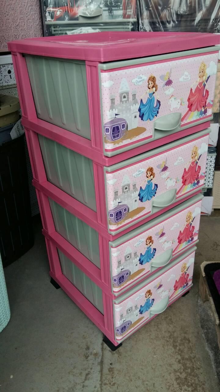 Комод пластиковый элиф blue and pink princess