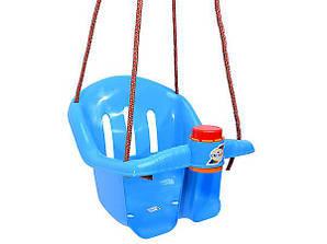 Качеля детская подвесная ОРИОН с клаксоном Синяя (0063aqrly309)