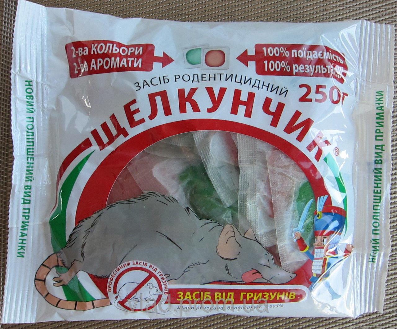 Щелкунчик двухцветная приманка тесто от крыс и мышей 250 г оригинал