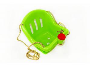 Качеля детская подвесная ОРИОН с клаксоном Зеленая (006sfd308)