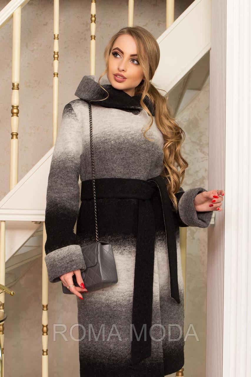 Классческое пальто женское с капюшоном Р-4/8 размеры 44-58
