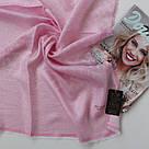 """Шарф рожевий с люрексом """"Фенрі"""" 167-10, фото 2"""