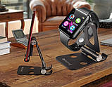 Складной кронштейн подставка под смартфон двухсторонний ВИП, фото 3