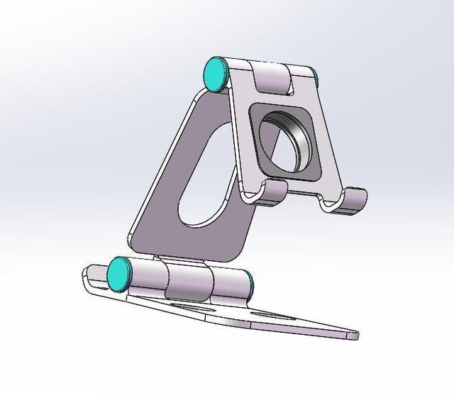 Алюминиевый портативный складной кронштейн подставка под смартфон ВИП.