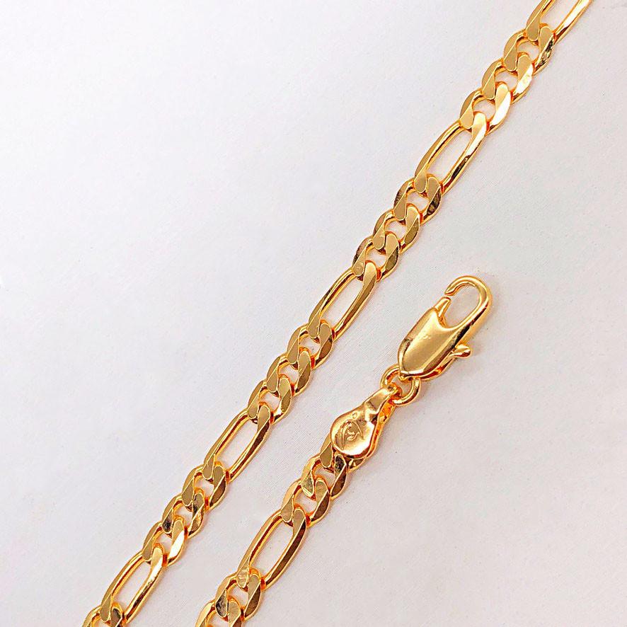 """Браслет Xuping Jewelry 20 см х 4 мм """"Фигаро"""" медицинское золото, позолота 18К. А/В 2502"""