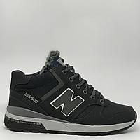 Ботинки мужские зимние кроссовки New B NM Cruz черные реплика