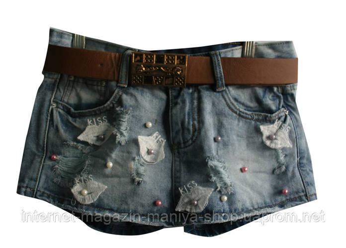 Джинсовые шорты(юбка) женские