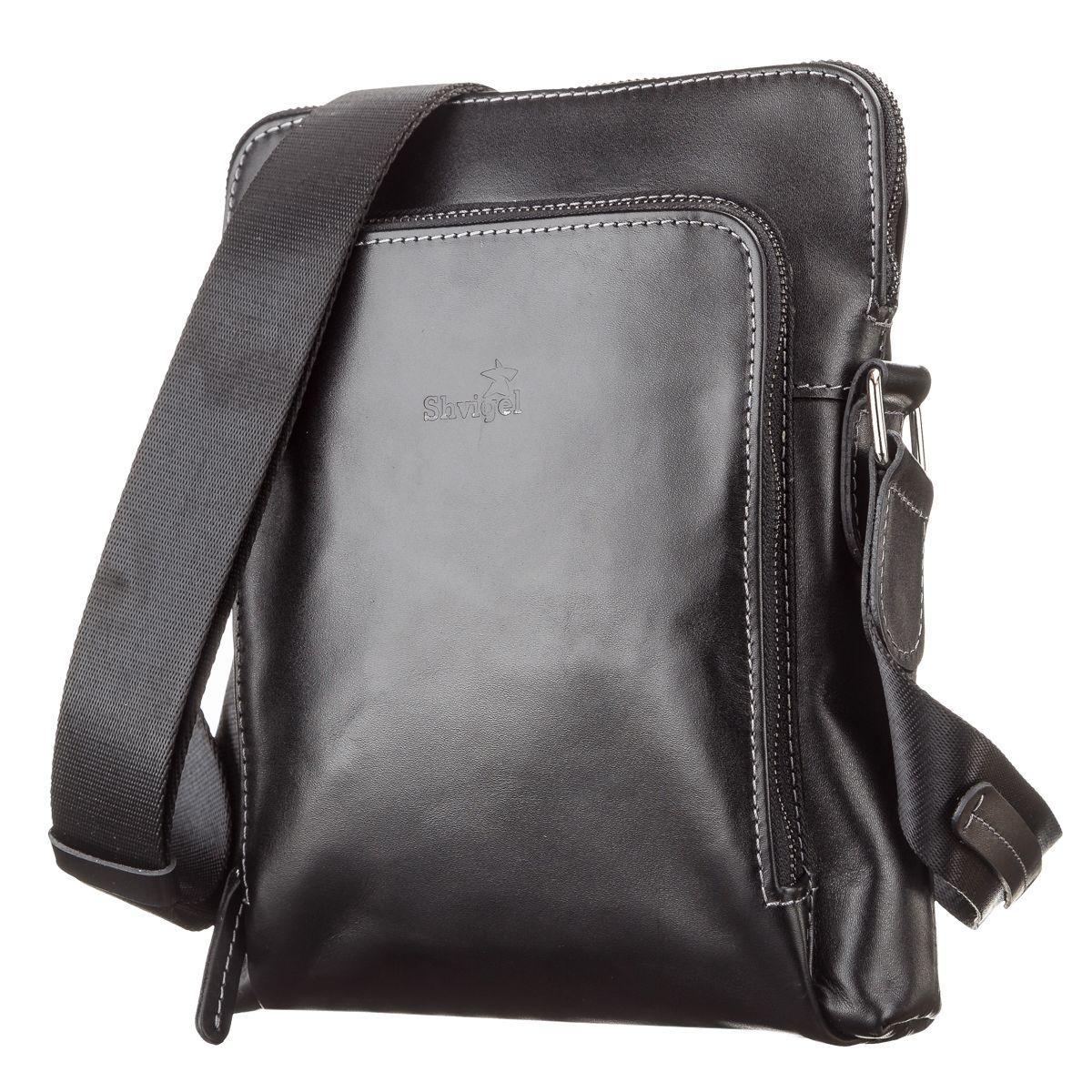 150215aa0ccb Сумка мужская SHVIGEL 11101 кожаная Черная, Черный: продажа, цена в ...