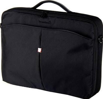"""Мужская качественная сумка для ноутбука 15,6"""" - 16"""" Continent CC-02Black черный"""