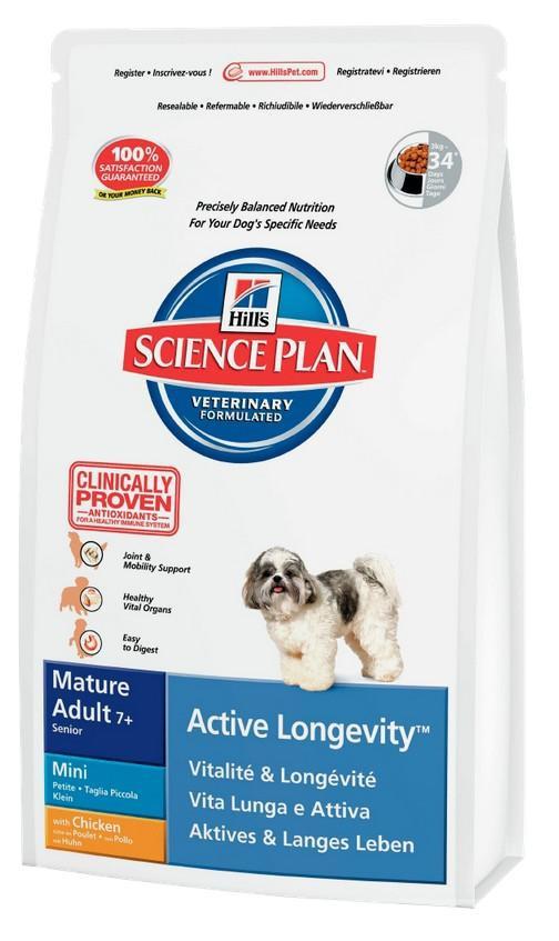 Hills  mature adult 7+ active longevity сухой корм для собак (курица ) - 3 кг