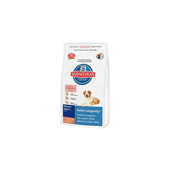 Hills canine mature adult 7+ active longevity сухой корм для собак  (ягненок с рисом) - 12 кг