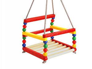 Детские деревянные качели Разноцветные (ss0077022)