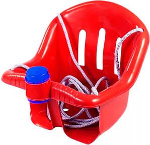 Качеля детская подвесная ОРИОН с клаксоном Красная (006qoet2o310)