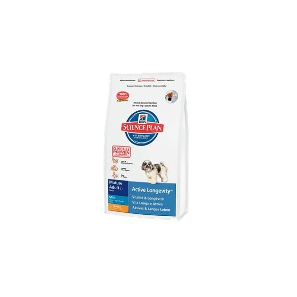 Hills canine mature adult 7+ active longevity mini сухой корм для собак с курицей - 1 кг