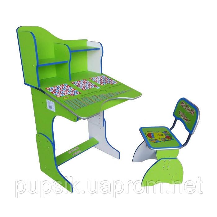 """Парта + стул E2071 GREEN """"Веселой учебы"""""""
