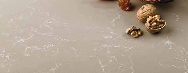 Столешница - кварцевый искусственный камень 5329 Mocca Mausse - Photo