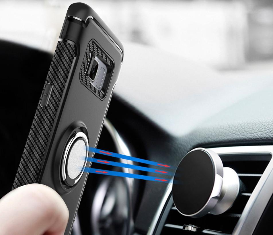 Противоударный бампер с магнитом и кольцом для  Samsung Galaxy J2 Prime G532F