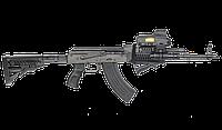 Труба для приклада телескопического с амортизатором FAB для AK 47 / Комплектующие к прикладу черного цвета